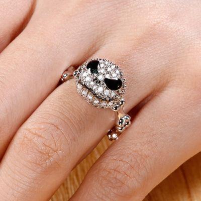 Crystal Skull Ring